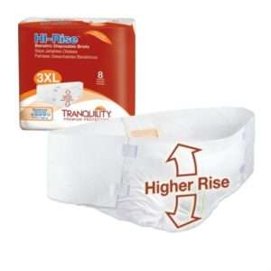 Tranquility® HI-Rise™ Bariatric Disposable Briefs