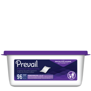 Prevail® Premium Quilted Adult Washcloths in Tub Dispenser
