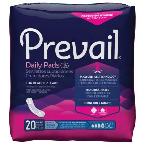 Prevail® Bladder Control Pads – Moderate